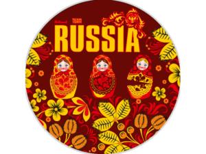 Автостикер Россия макет