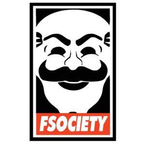 Наклейка на автомобиль FSociety