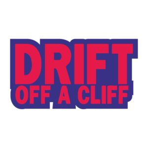 Автостикер JDM Drift off a cliff