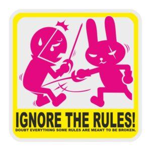 Автостикер JDM Ignore The Rules