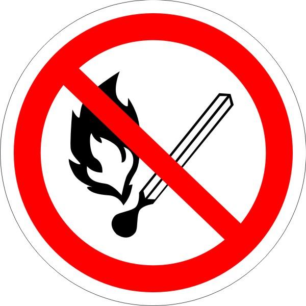 Р 02. Запрещается пользоваться открытым огнем и курить