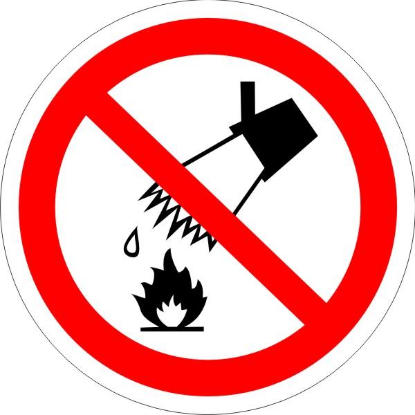 P 04. Запрещается тушить водой