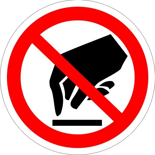 P 08. Запрещается прикасаться. Опасно