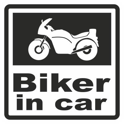 Наклейка Biker in car. Купить в Интренет-магазине ColorChita.ru