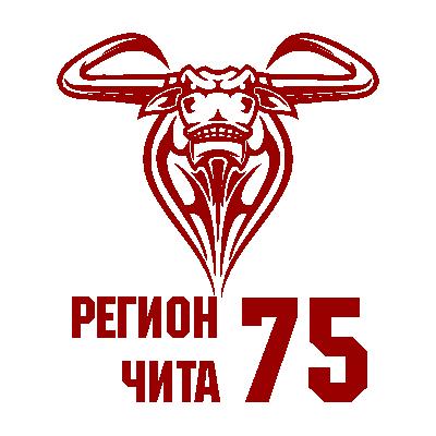 """Наклейка """"Регион 75"""" 3 макет"""