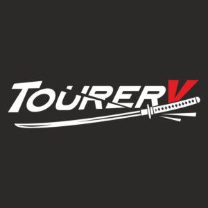 Наклейка Tuorer-V белая с красным