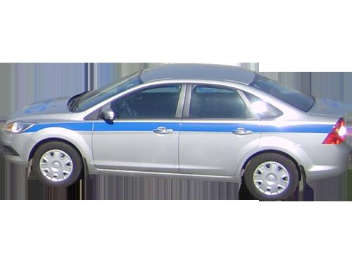 Декоративная полоса на Ford Focus 1 макет