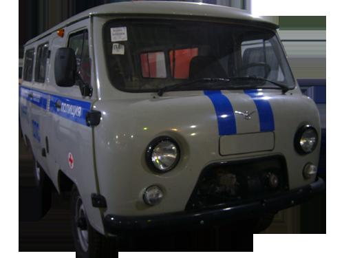 Декоративная полоса на УАЗ Санитарка 2 макет