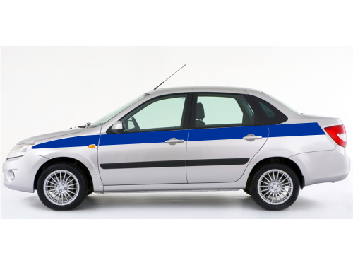Декоративная полоса на Lada Granta 1 макет