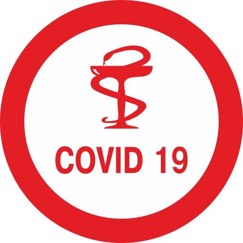 Наклейка COVID-19 1 макет