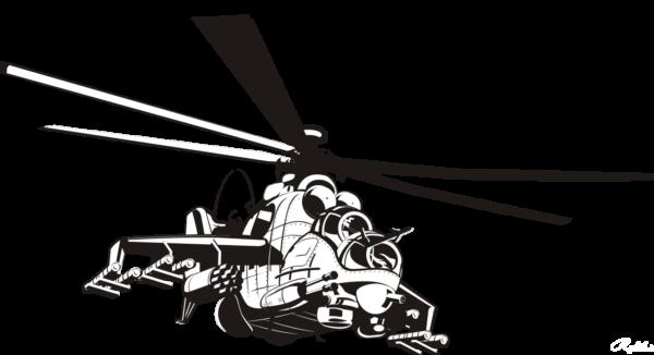 Наклейка вертолет МИ-24 1 макет