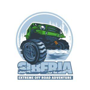 Наклейка SIBERIA Extrim off Road Adventure