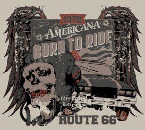 Наклейка Born to Ride