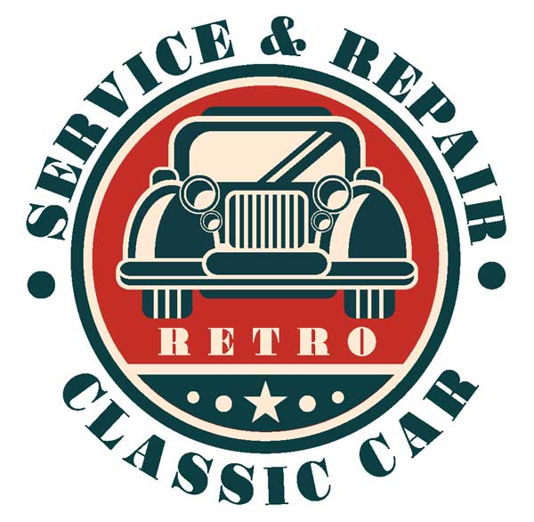 Макет наклейки Servise & Repair Petro Classic Car