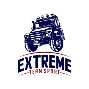 Макет наклейки Exrteme Team Sport