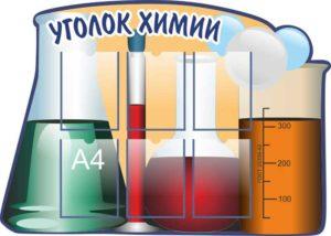 Эскиз Уголка химии