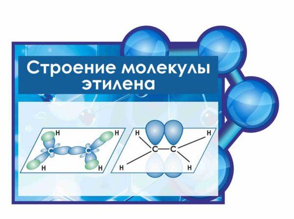 стенд строение молекулы этилена макет