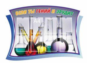 Стенд для оформления кабинета химии макет