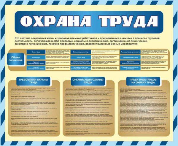 Стенд Охрана труда №4 1 макет