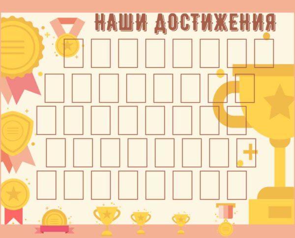 Стенд школьных достижений №11 1 макет