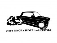 Наклейка Drift is Not a Sport 1 макет