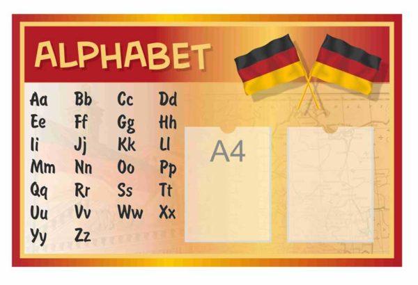 Стенд для кабинета иностранного языка №58 1 макет