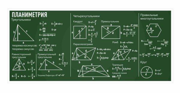 Стенд для кабинета Математики №39 1 макет