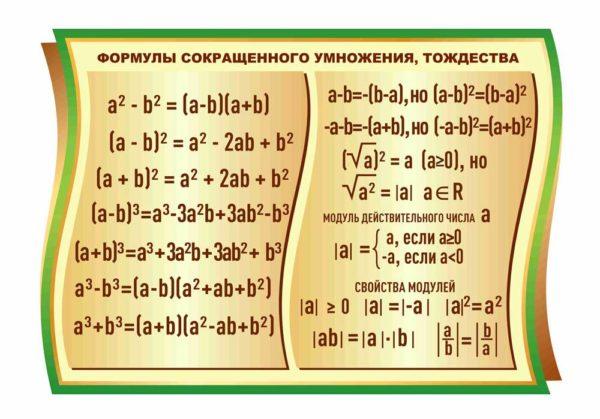 Стенд для кабинета Математики №74 1 макет