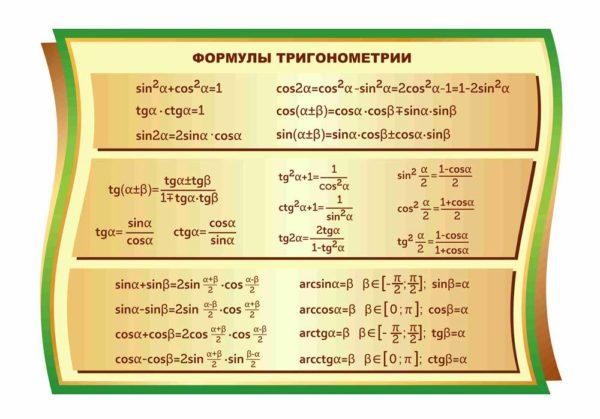 Стенд для кабинета Математики №76 1 макет