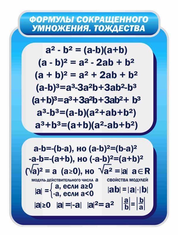 Стенд для кабинета Математики №79 1 макет