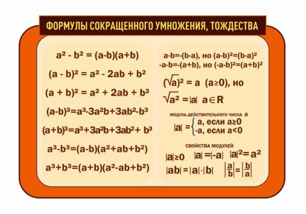 Стенд для кабинета Математики №91 1 макет