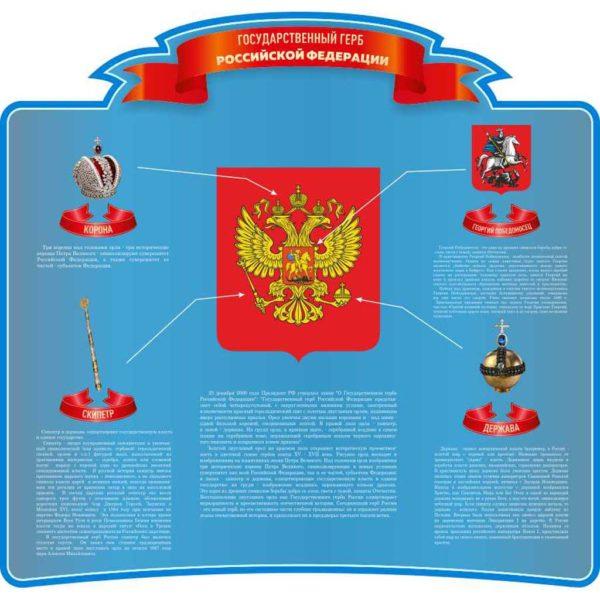 Стенд с символикой России №4 1 макет