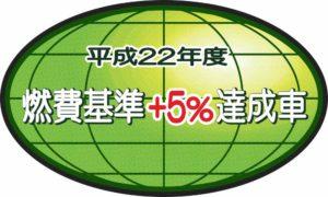 Зеленая овальная наклейка на японских авто